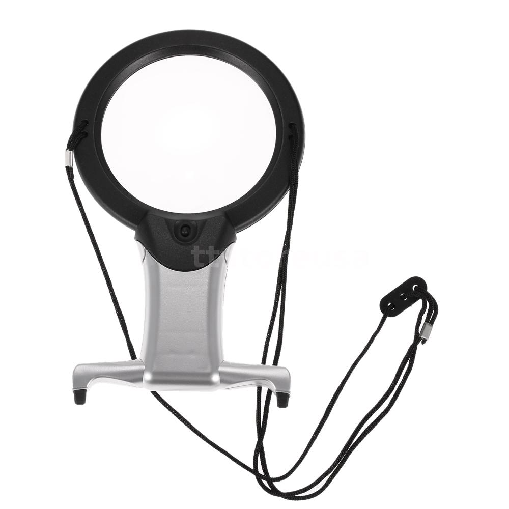 2x 6x hands free magnifying glass led light magnifier for