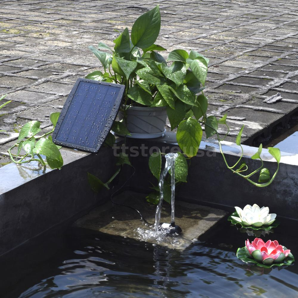 Small Type Landscape Pool Garden Fountains Solar Power
