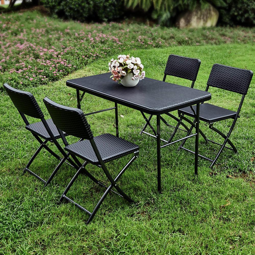 iKayaa 4FT6FT Folding Garden Furniture Set Outdoor Table  : H16642 1 e729 QcXi from www.ebay.com size 1000 x 1000 jpeg 379kB