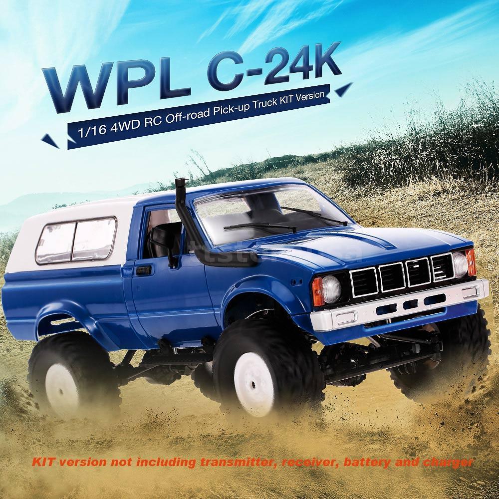 WPL C-24K 1//16 4WD Off-road Pick-up RC Truck with Motor /& Servo KIT Version K9Z9