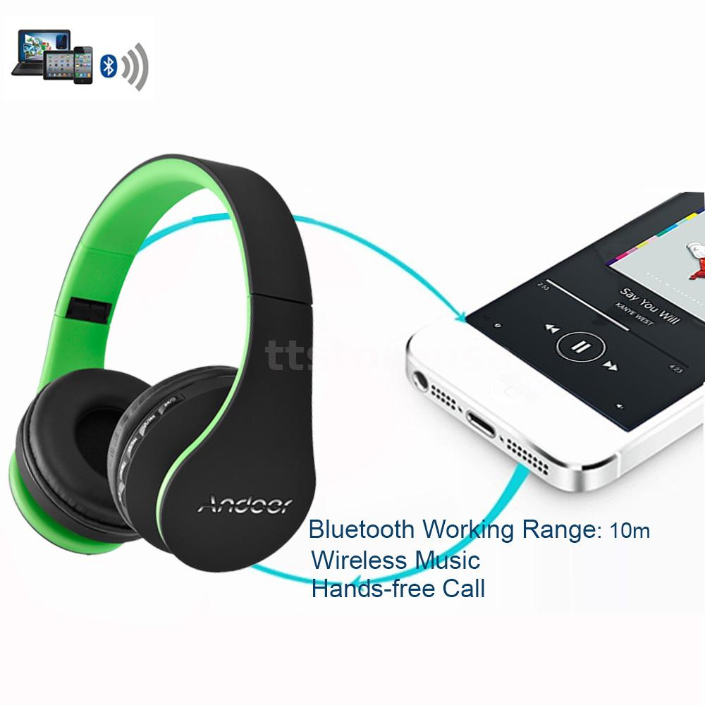 stereo bluetooth headset wireless wired headphone. Black Bedroom Furniture Sets. Home Design Ideas